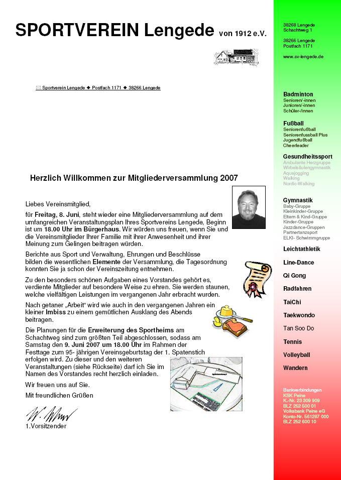 sv lengede von 1912 e.v. - verein - veranstaltungen - 2007 - 95, Einladung